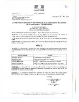Arrêté membres commission contrôle